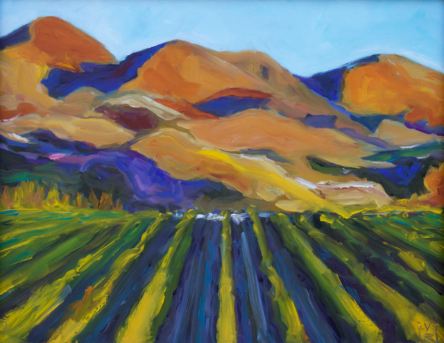 Image of Vineyard - Oil on Panel