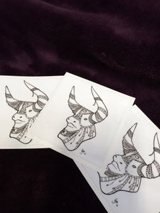 Image of EMBELLISHED BULL : STICKERS