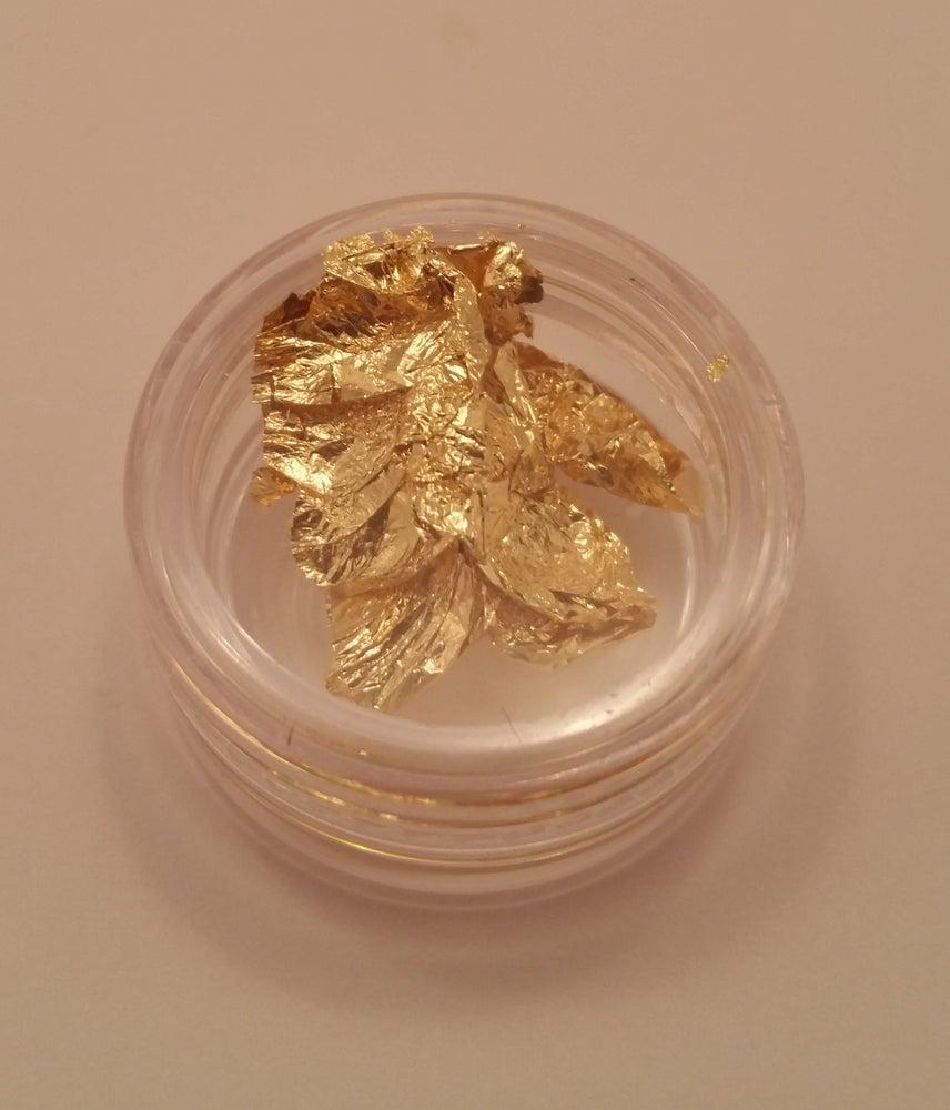 Image of Nail art foil (1 pot) Gold, Silver, Bronze & Copper