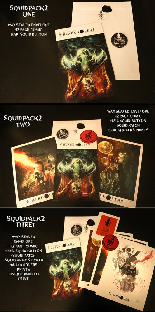 Image of BLACKHOLERS #2 & SQUIDPACKS