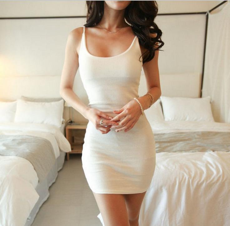 Image of Sexy condole sleeveless vest tight dress