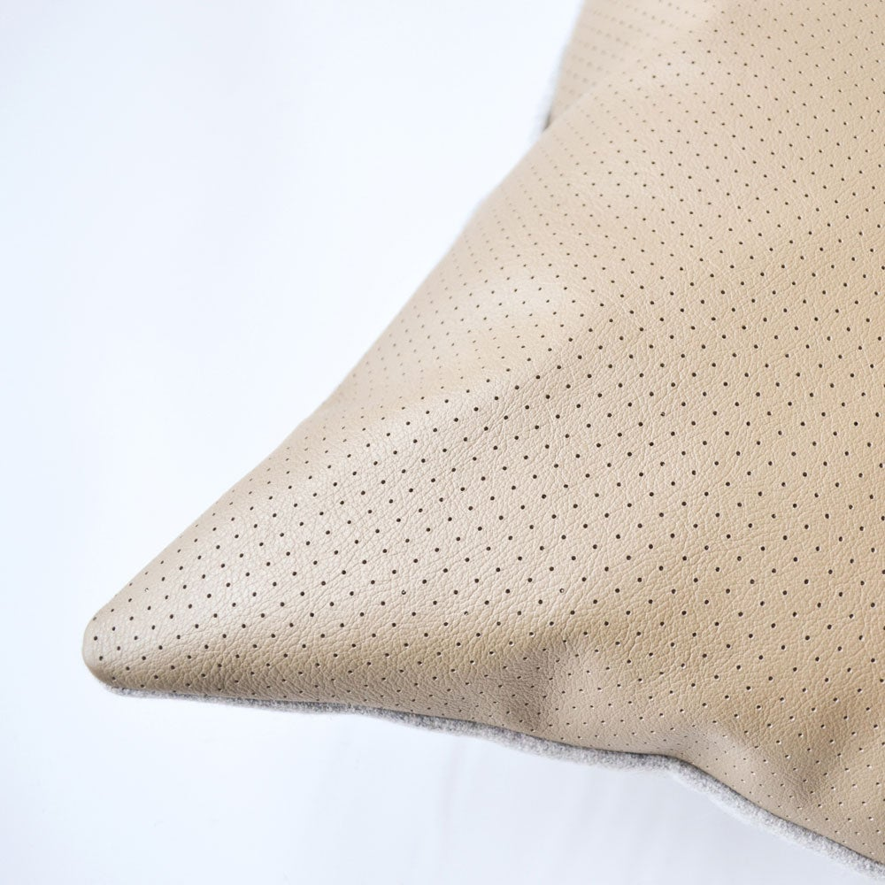 Image of Leather Dotty Cushion Cover - Square