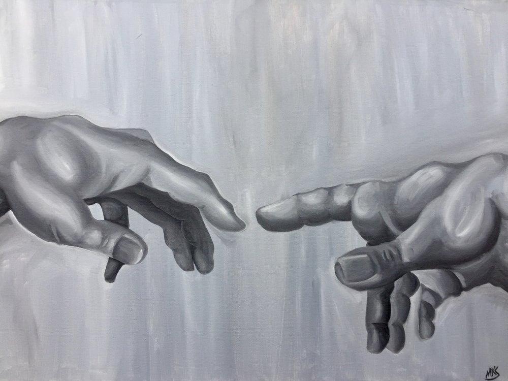 Image of Monochrome | Creation of Adam (Hands)