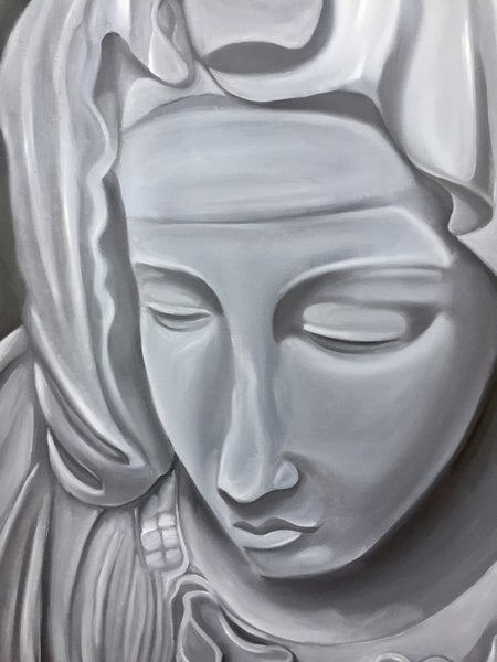 Image of Monochrome   Virgin Mary