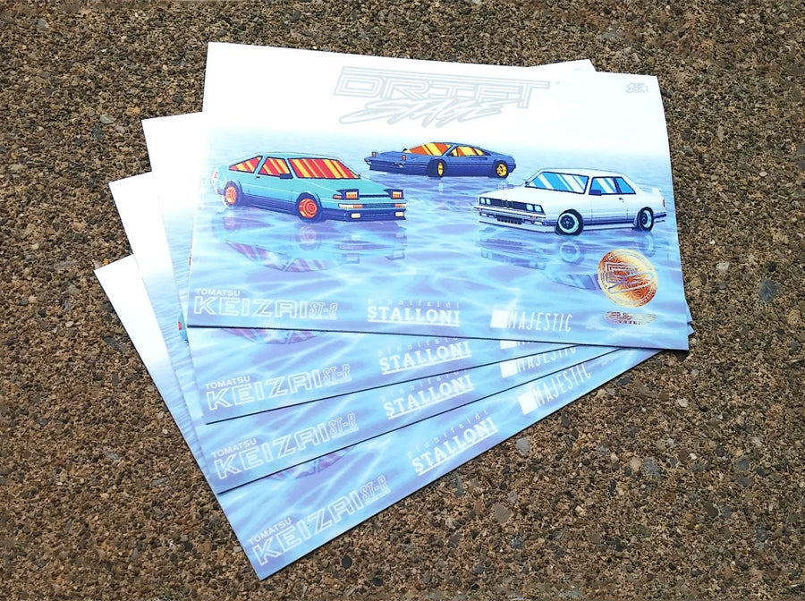 Image of 「Drift Stage - Exclusive Coupes - Special Edition Sticker Sheet」