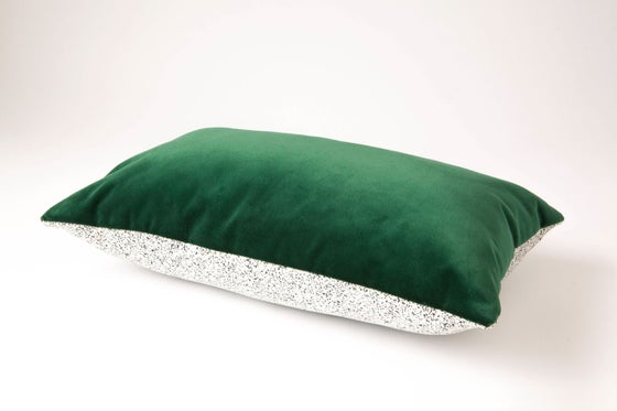 Image of Galaxy Velvet Green Cushion Cover - Rectangular