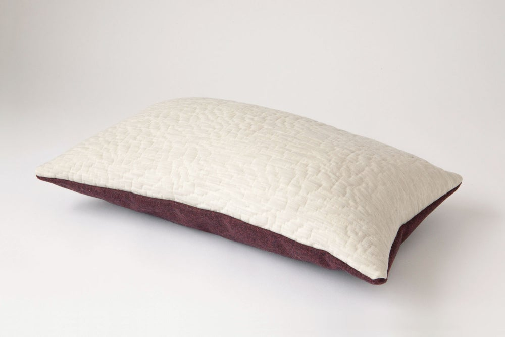 Image of Crimson White Cushion Cover - Rectangular