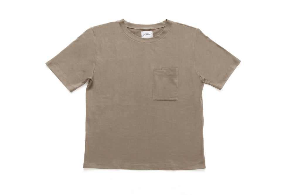 Image of HEAVY DOUBLE POCKET T-SHIRT - SAND