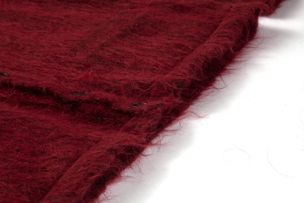 Image of SHADOWED MOHAIR CARDIGAN - BLOOD