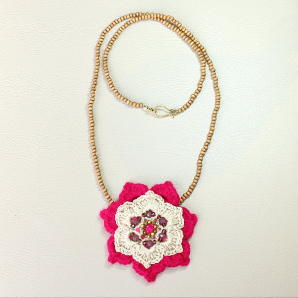Image of Necklace - Deep Pink