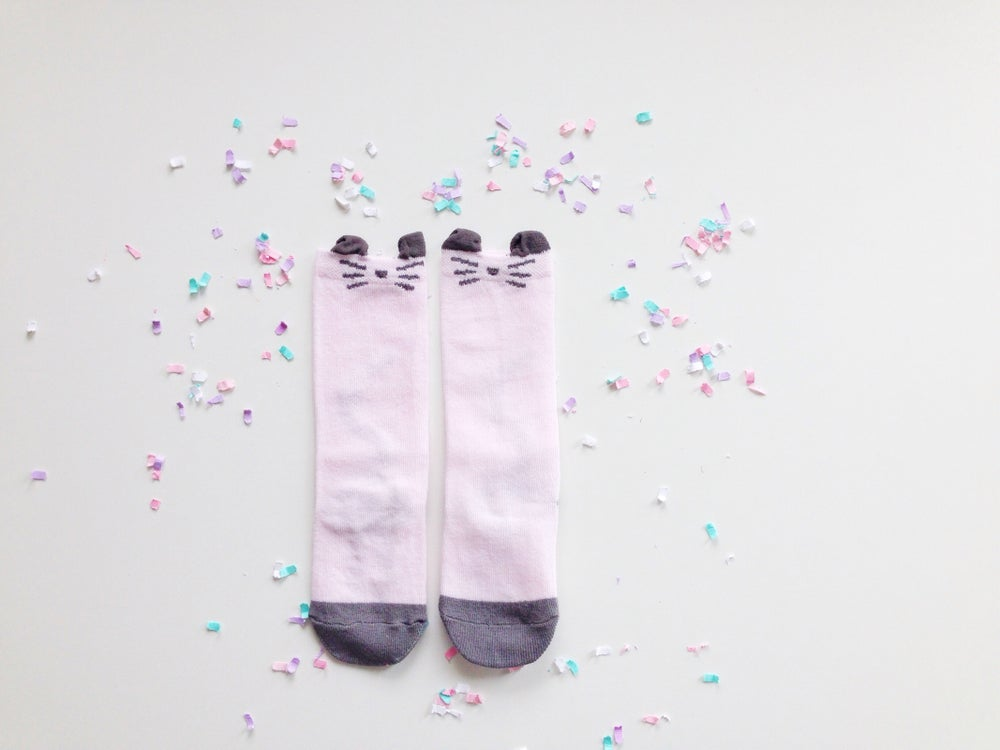 Image of Pink whiskers mouse socks