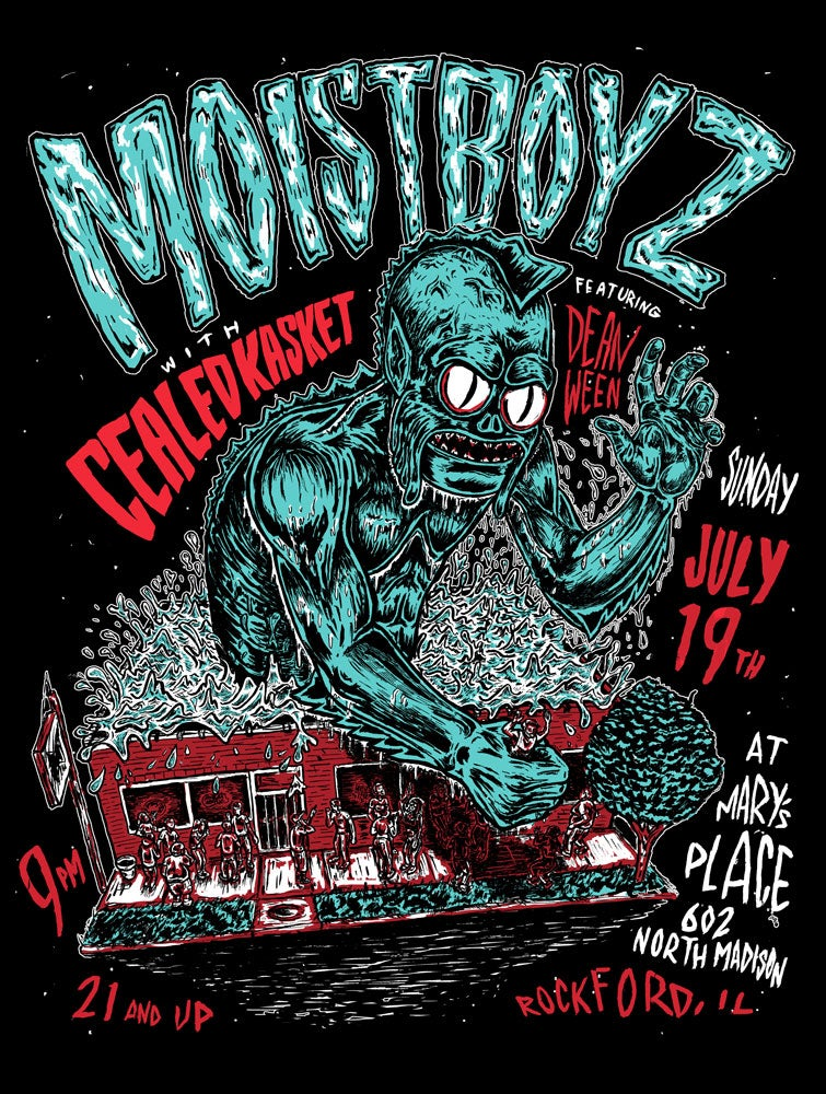Image of Moistboyz show poster