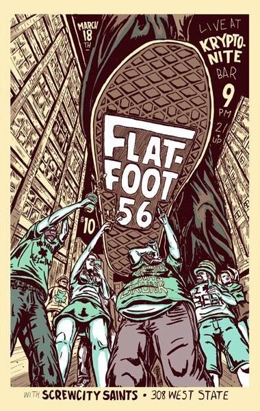Image of flatfoot 56 gig poster