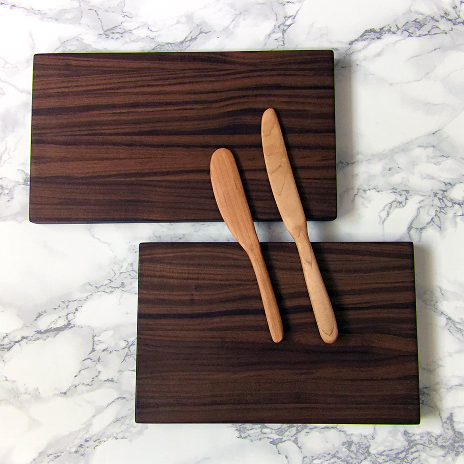 Image of 2 Piece walnut cutting board set