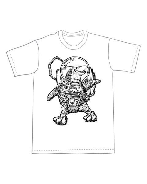 Image of Space Penguin T-shirt **FREE SHIPPING**