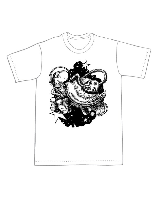 Image of Space Turtle T-shirt **FREE SHIPPING**