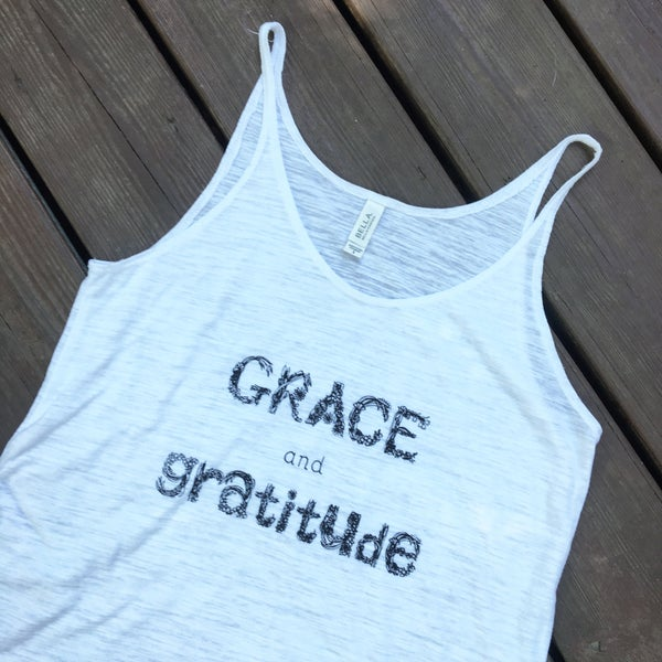 Image of Grace and Gratitude- women's slouchy tank
