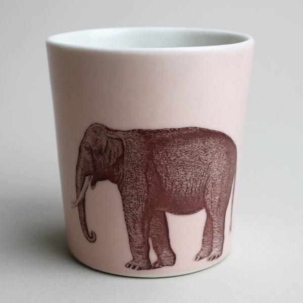 Image of 14oz tumbler with elephant, rose