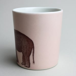 Image of 14oz tumbler with elephant, rose