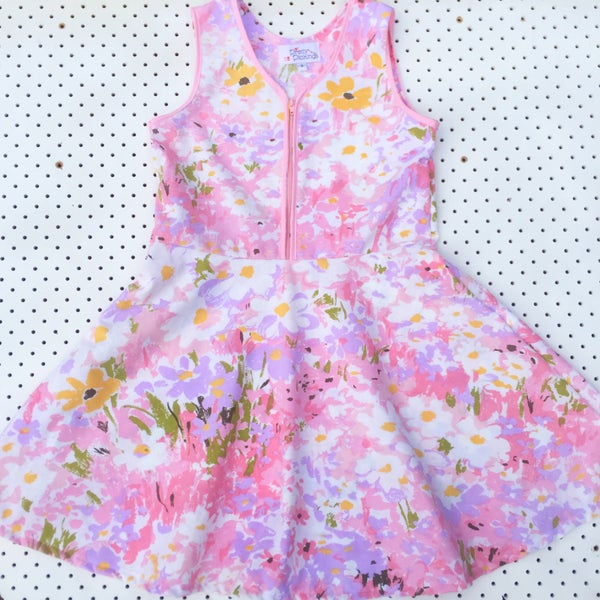 Image of Size 9 'vintage twirl' dress - Monet's garden