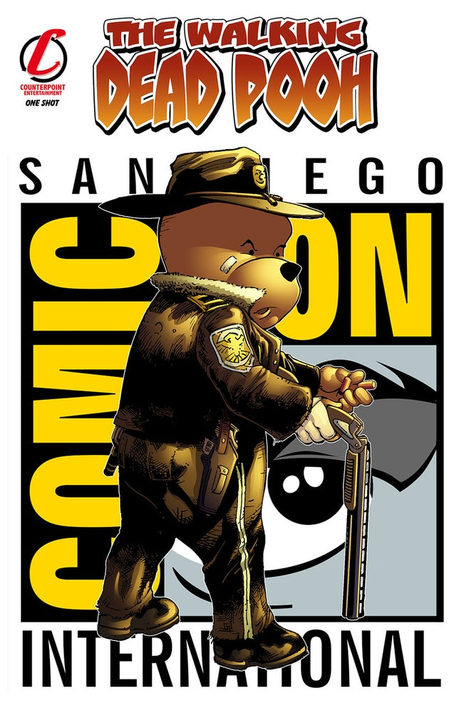 Image of Walking Dead Pooh San Diego Comic Con Exclusive