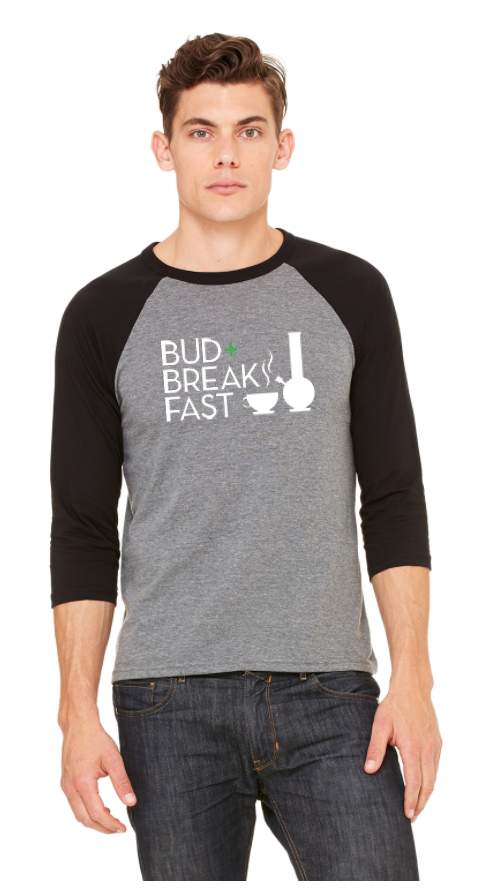Image of Bud+Breakfast™ 3/4 Sleeve Baseball Shirt