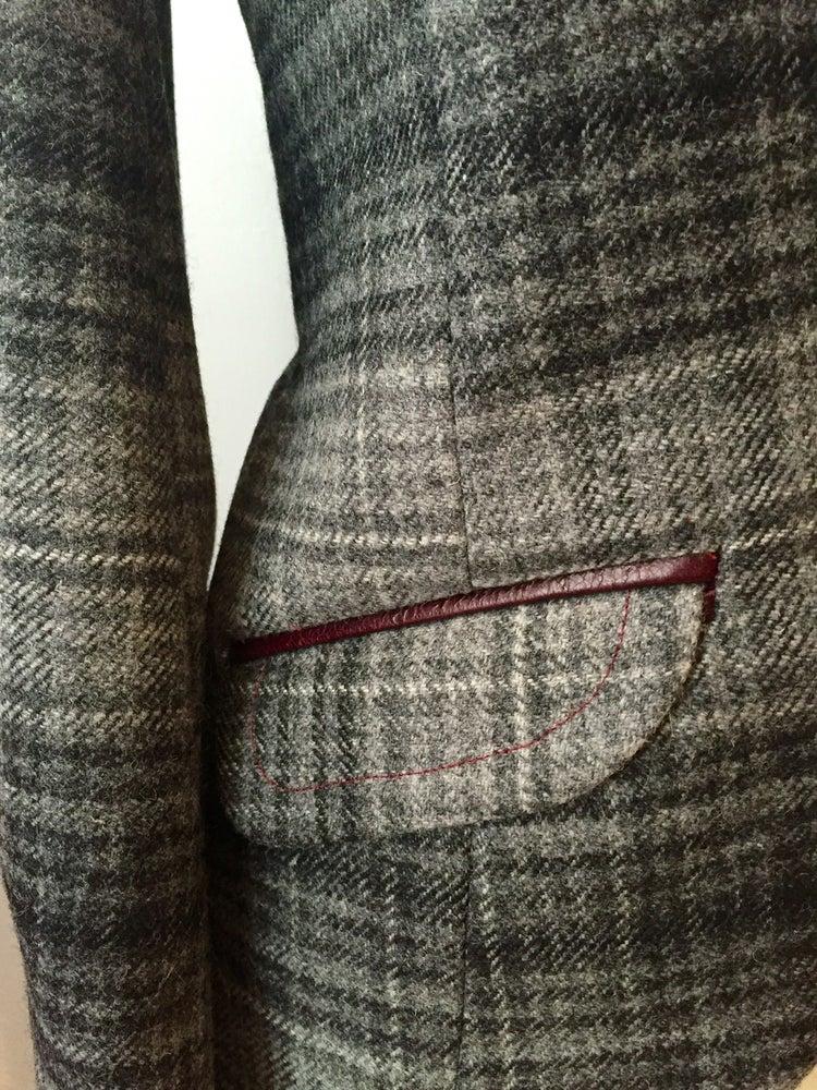 Image of Leather shawl collar Agnes jacket
