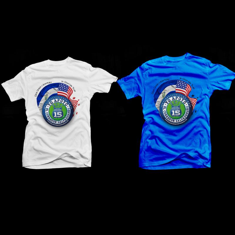 Image of Yo Apoyo El Salvador Corridor T-Shirt [blue and white] (pre-sale)