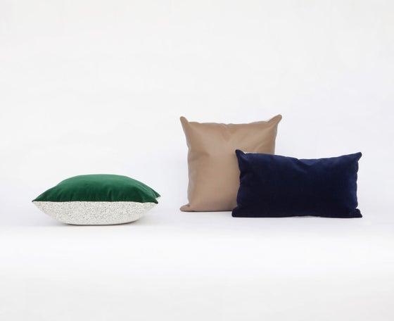 Image of Galaxy Velvet Navy Cushion Cover - Rectangular