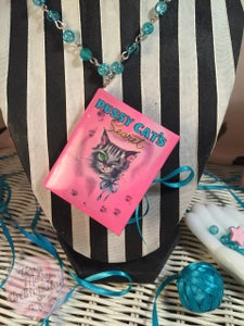 Image of Pussy Cat's Secret ~ Mini Book NeckLace