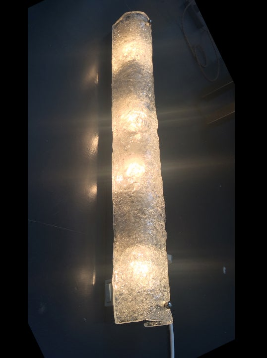 Image of Long Ice Glass Vanity Sconce (1 remaining)