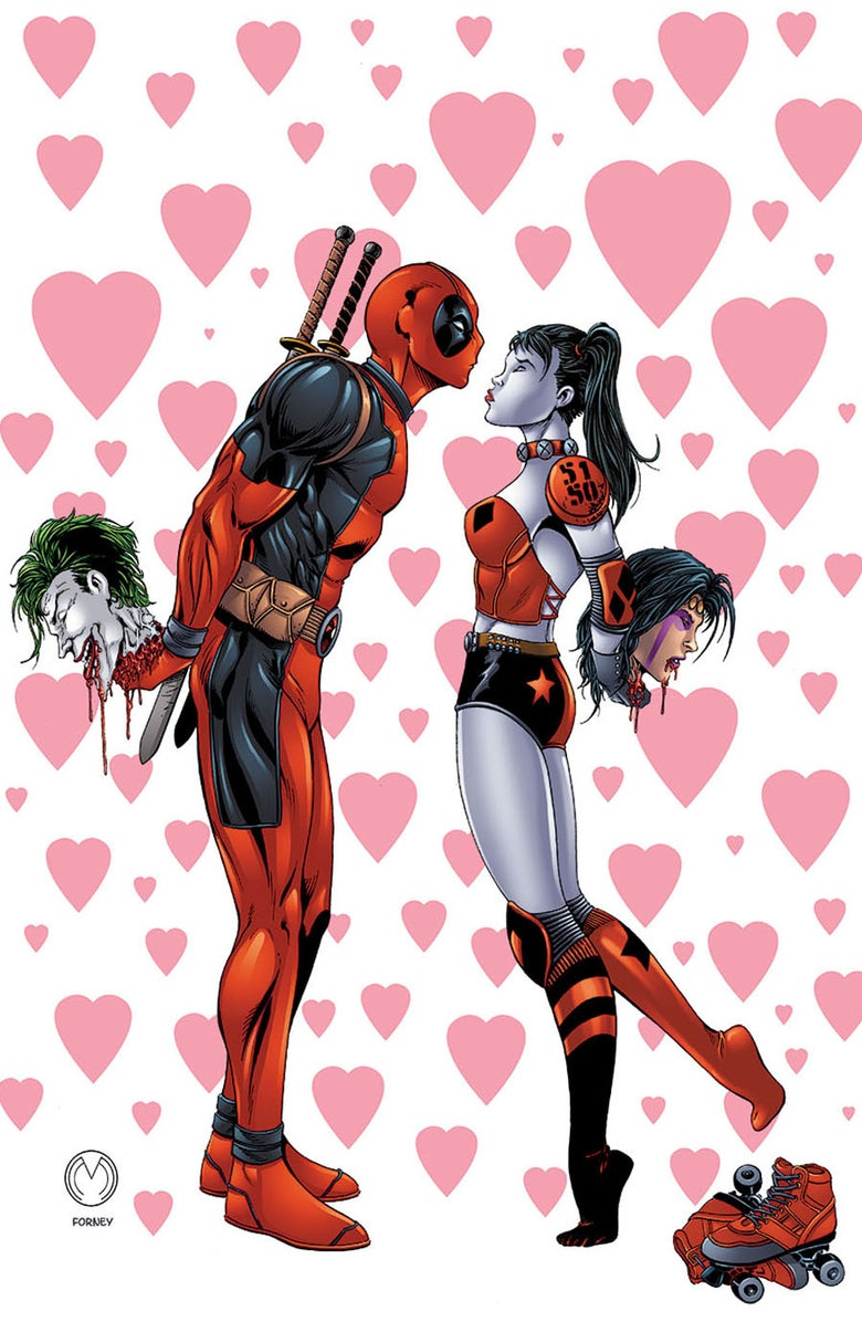 "Image of Deadpool & Harley Quinn ""Crazy In Love"" Print"