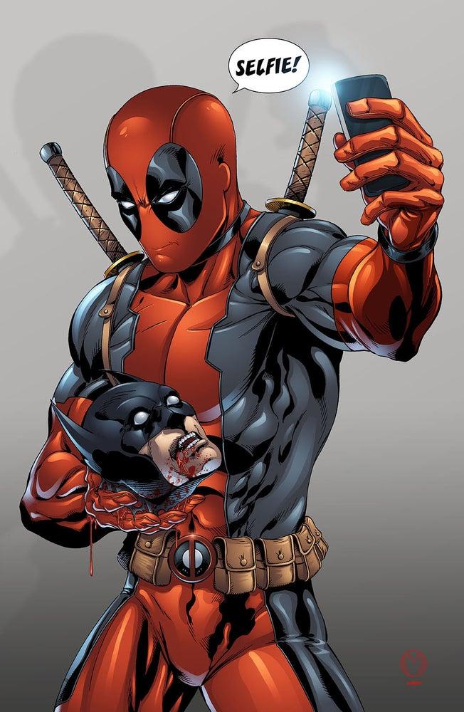 """Image of Deadpool """"Selfie"""" Print"""