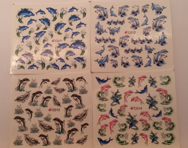Image of Summer & Dolphin themed decals (Various designs)