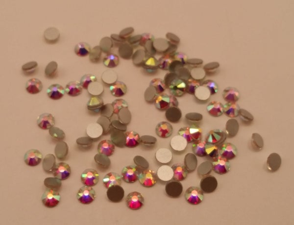 Image of Super sparkly Clear or AB glass rhinestones. 5 size choices.