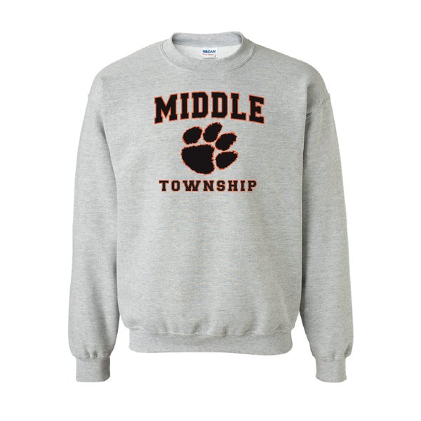 Image of Crew Neck Sweatshirt w/ Athletic Logo (Gray)