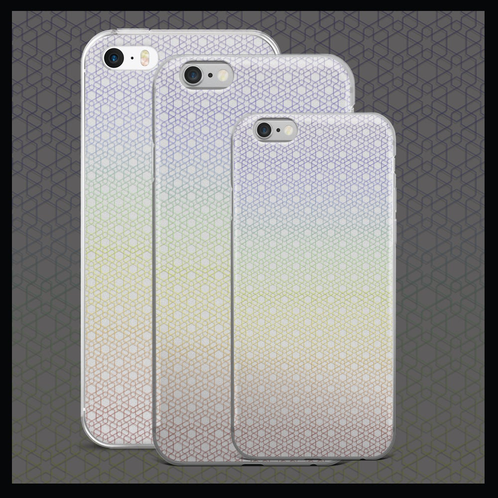 Image of 'Rainbow Hexagon' iPhone Case