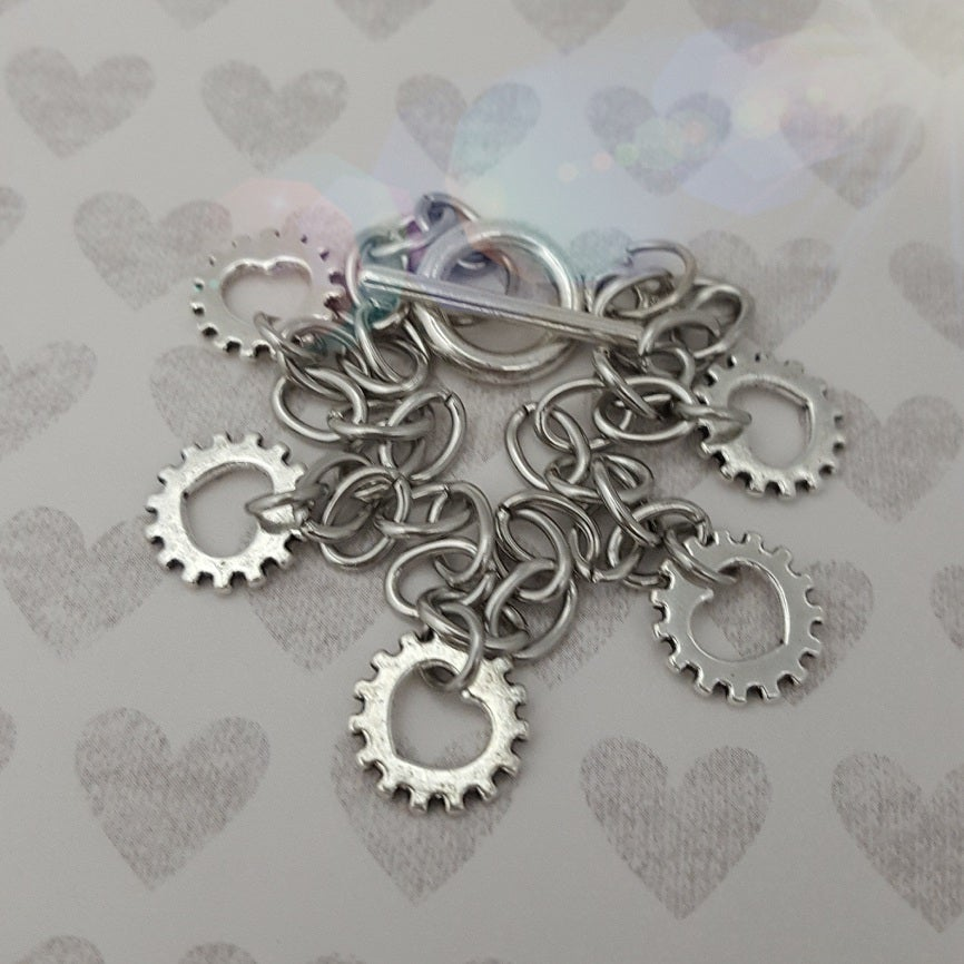 Image of Heart Gear Charm Bracelet®