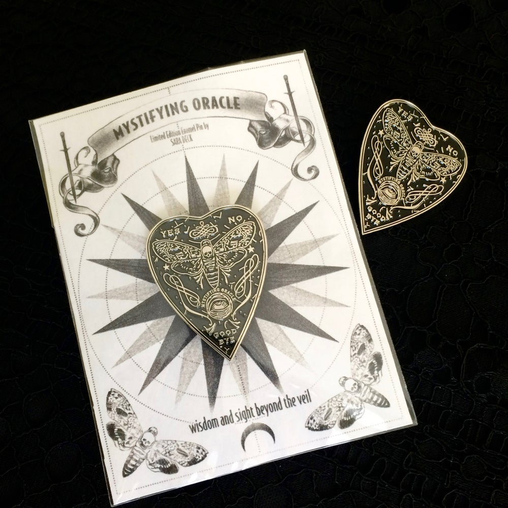 Image of Mystifying Oracle Planchette Enamel Pin ~ Unicorn Blood Variant!
