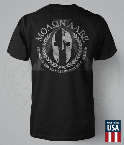 "Image of MOLAN LABE ""SPARTAN HELMET"" T-SHIRT"