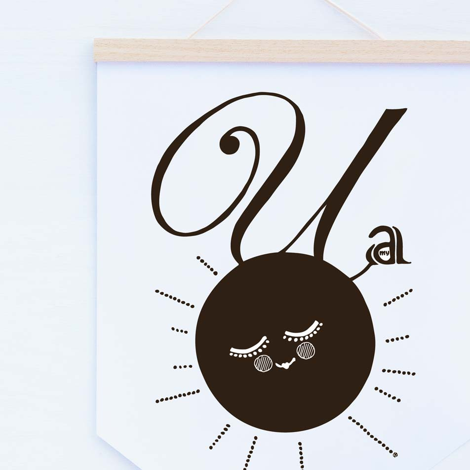 Image of Love you 2 the moon & back - banner