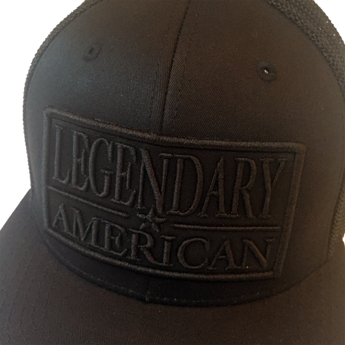 Image of Legendary American Patch Trucker in Black