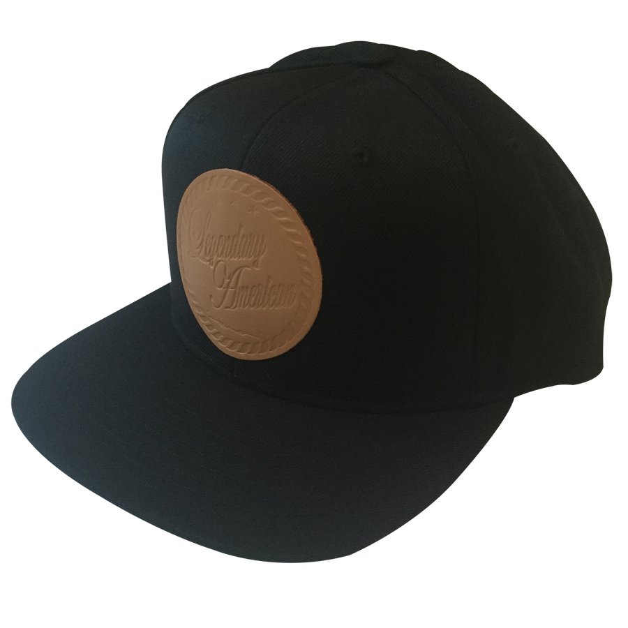 Image of Legendary American Armed Forces Snapback with Stamped Leather Patch