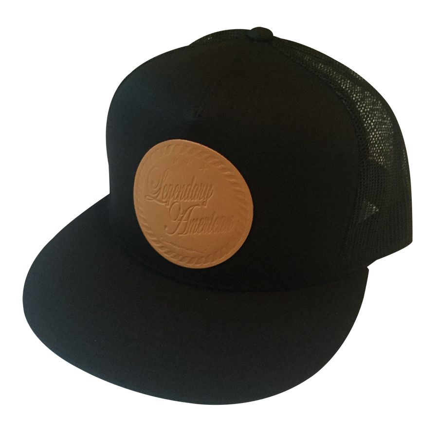 Image of Legendary American Armed Forces Flexfit Trucker in Stamped Leather