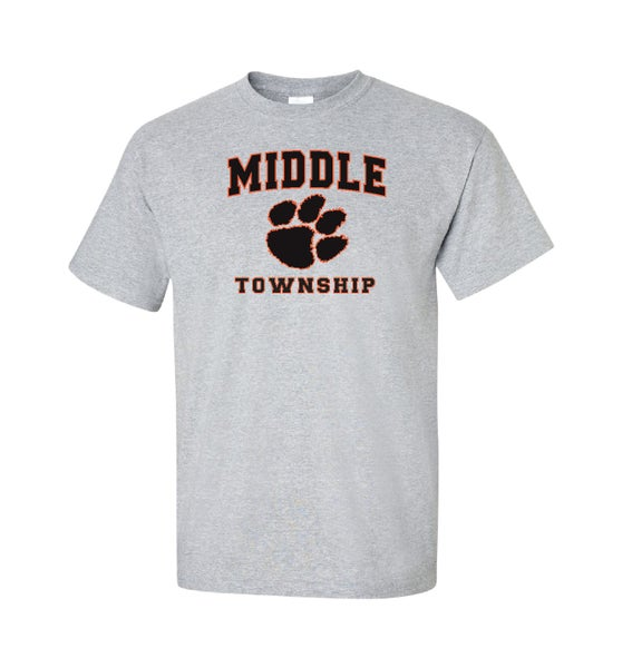 Image of T-Shirt w/ Athletic Logo (Gray)