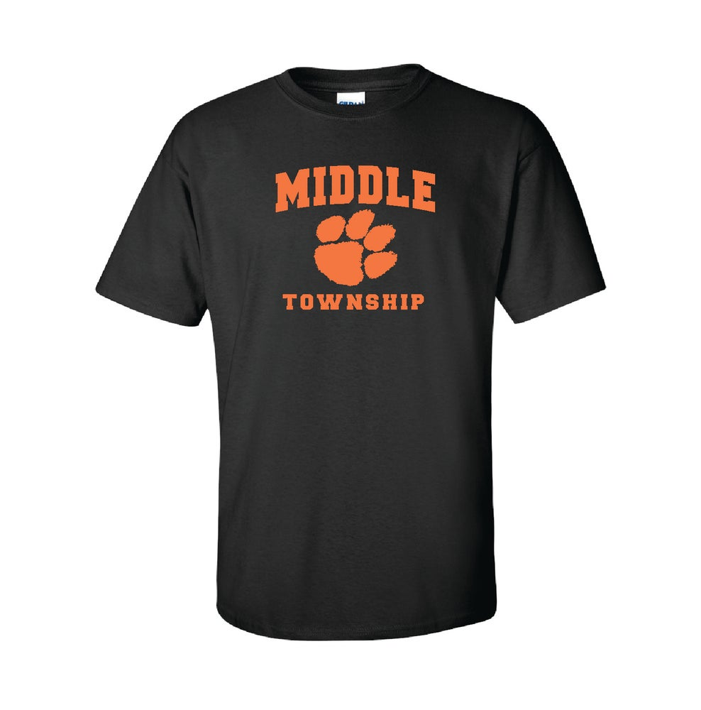 Image of T-Shirt w/ Athletic Logo (Black)