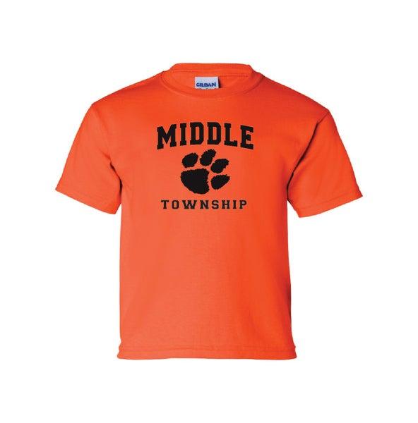 Image of Youth T-Shirt w/ Athletic Logo (Orange)