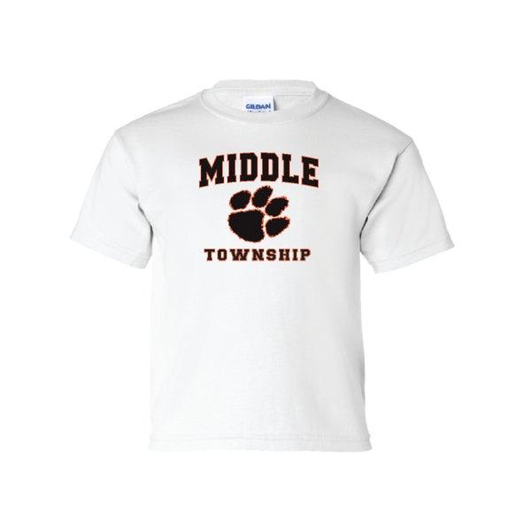 Image of Youth T-Shirt w/ Athletic Logo (White)