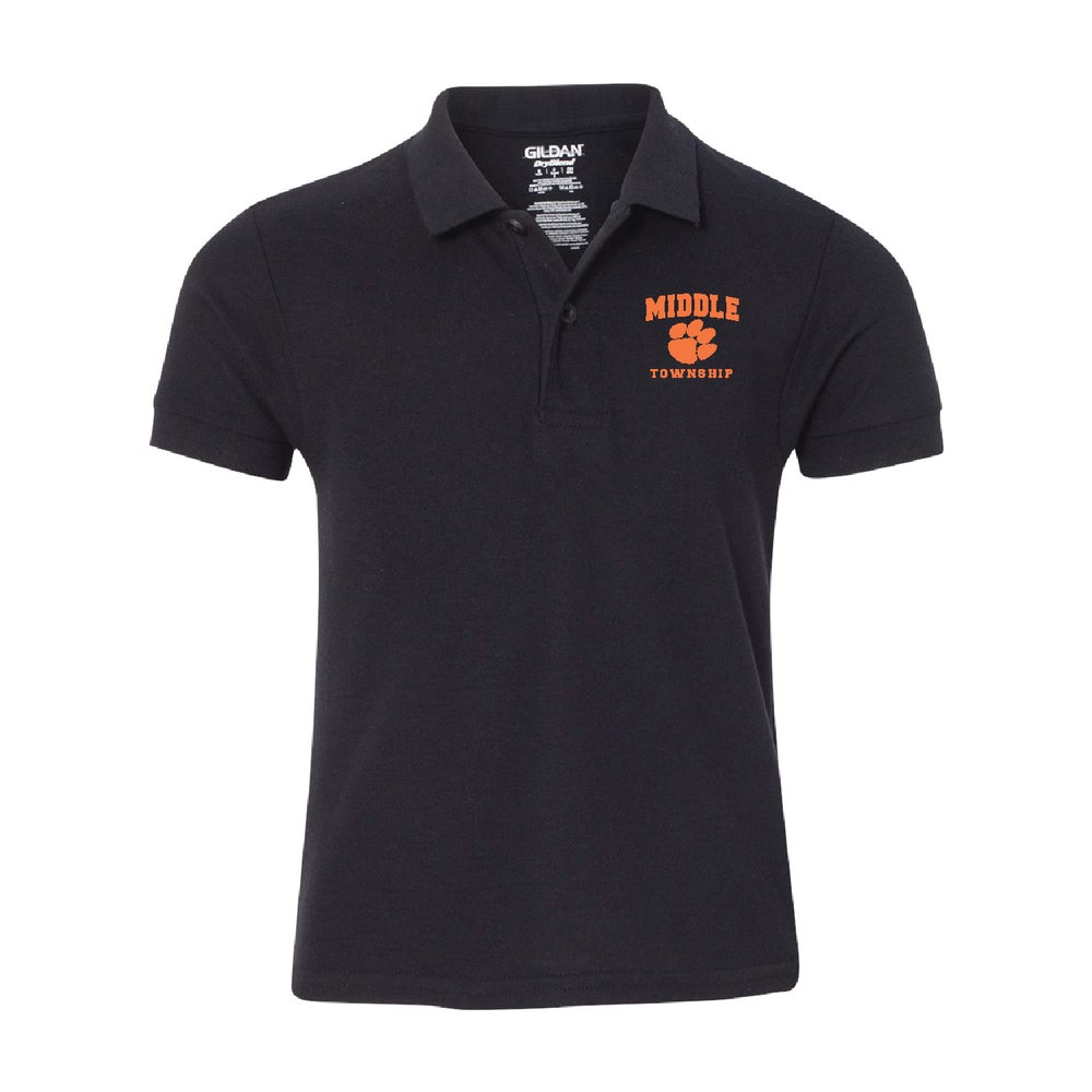Image of Youth Polo w/ Athletic Logo (Black)