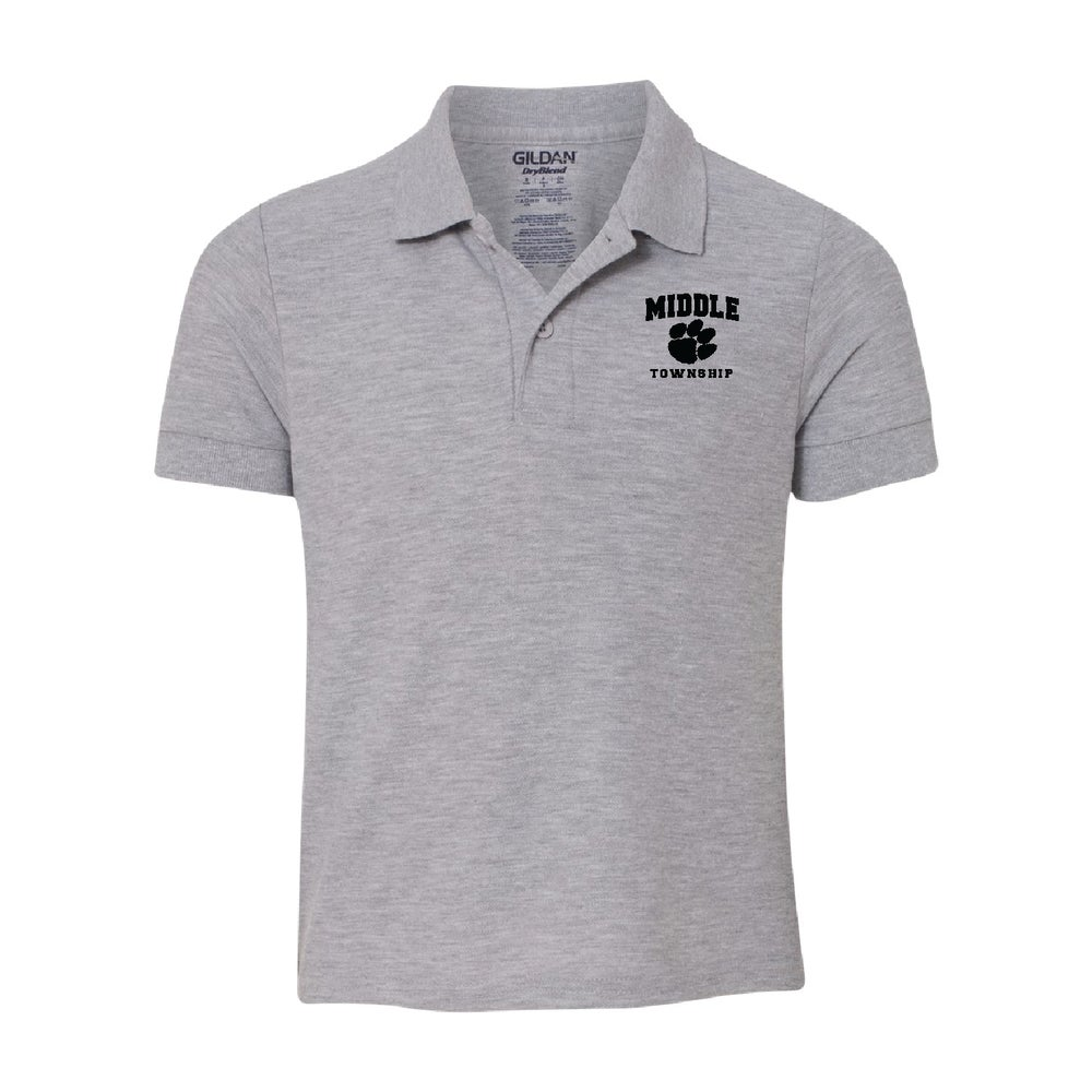 Image of Youth Polo w/ Athletic Logo (Gray)
